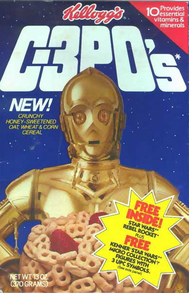 C-3PO's Cereal that debuted in 1984.