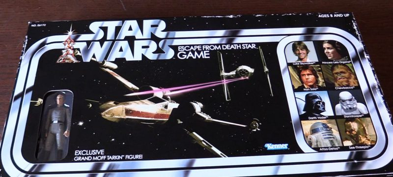 New Retro Collection Star Wars Death Star Escape Board Game with Grand Moff Tarkin